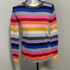 NWT GAP Rainbow striped sweater -S